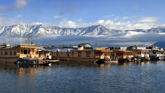 Houseboats in dal lake